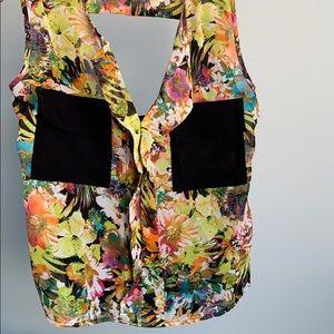 Material Girl Black / Floral Blouse